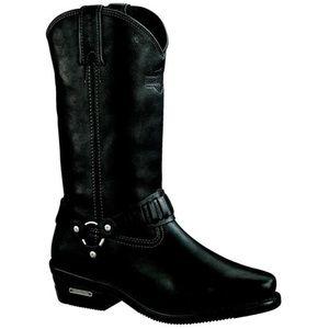 Harley Davidson Pecos Black Leather Riding Boots